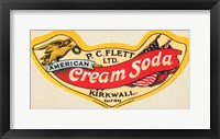 Framed American Cream Soda