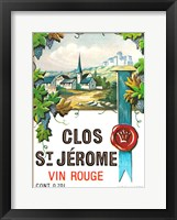 Framed Clos St Jerome Vin Rouge