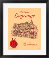 Framed Chateau Lagrange Bordeaux