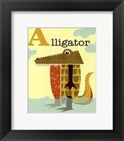 Framed Alligator
