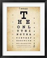 Einstein Eye Chart Framed Print