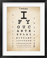 Einstein Eye Chart II Framed Print