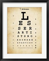 Framed Picasso Eye Chart