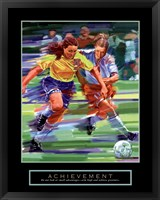 Framed Achievement - Soccer