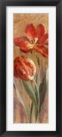 Parrot Tulips on Gold II Framed Print