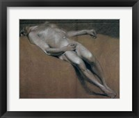 Framed Study of a recumbent male nude