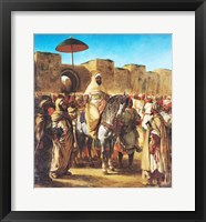 Framed Muley Abd-ar-Rhaman  The Sultan of Morocco