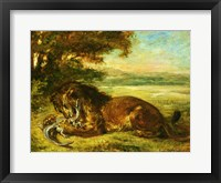Framed Lion and Alligator, 1863