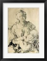 Framed Virgin Mary suckling the Christ Child