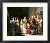 Framed Charles IV and his family, 1800