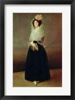 Framed Portrait of the Countess of Carpio Marquesa de la Solana, c.1793