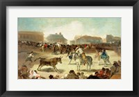 Framed Village Bullfight