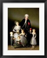 Framed Duke of Osuna and his Family, 1788