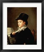Framed Portrait of Marianito Goya, Grandson of the Artist, c.1815