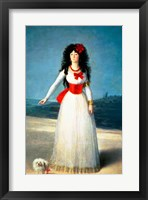 Framed Duchess of Alba, 1795
