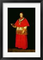 Framed Cardinal Don Luis de Bourbon