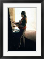Framed Self Portrait in the Studio
