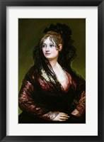 Framed Dona Isabel de Porcel