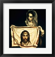 Framed St.Veronica with the Holy Shroud