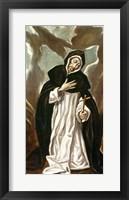 Framed St.Dominic of Guzman