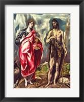 Framed St John the Evangelist and St. John the Baptist