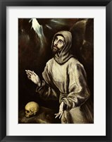 Framed St. Francis of Assisi Receiving the Stigmata