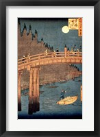 Framed Kyoto Bridge by Moonlight