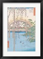 Framed Bridge with Wisteria or Kameido Tenjin Keidai