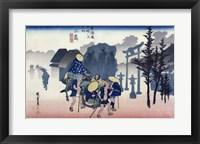 Framed Morning Mist at Mishima