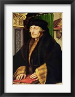 Framed Portrait of Erasmus, 1523