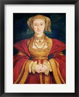 Framed Portrait of Anne of Cleves