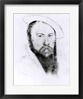Framed Portrait of Sir Thomas Wyatt the Younger