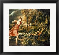 Framed Death of Actaeon