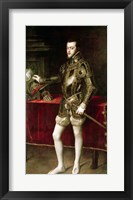 Framed King Philip II