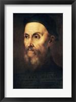 Framed Portrait of John Calvin