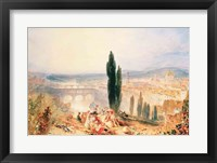 Framed Florence from near San Miniato, 1828