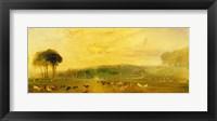 Framed Lake, Petworth: Sunset, Fighting Bucks