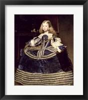 Framed Infanta Margarita in Blue, 1659
