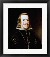 Framed Philip IV (profile)