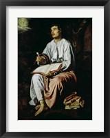 Framed St. John the Evangelist on the Island of Patmos