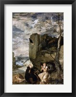 Framed St. Anthony the Abbot and St. Paul the First Hermit, c.1642