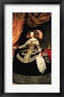 Framed Queen Maria Anna of Austria, 1652