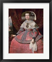 Framed Queen Maria Anna of Spain in a red dress