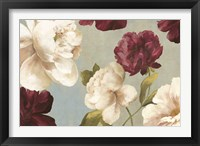 Framed Deep Peonies I