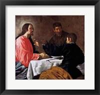 Framed Supper at Emmaus, 1620