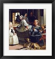 Framed Las Meninas or The Family of Philip IV, c.1656, Detail