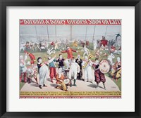 Framed Poster advertising the Barnum and Bailey Greatest Show on Earth