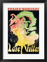 Framed Folies Bergeres: Loie Fuller, France, 1897