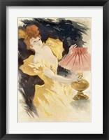 Framed Saxoleine (Advertisement for lamp oil), France 1890's