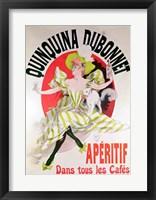 Framed Poster advertising 'Quinquina Dubonnet' aperitif, 1895
